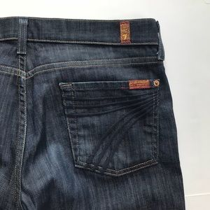 7 FOR ALL MANKIND Dojo Crop Dark Wash Jeans